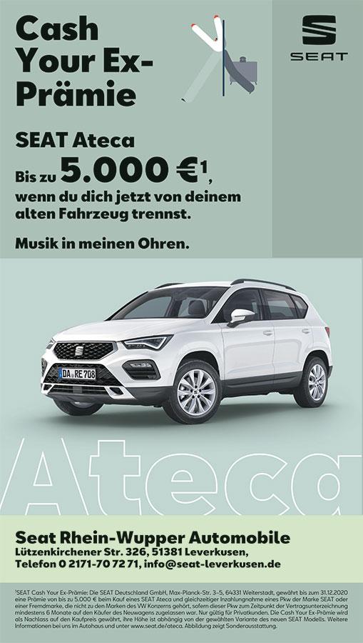 Sponsoren-Werbung: SEAT Leverkusen