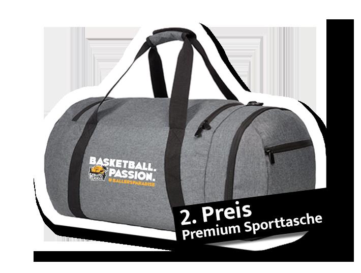 2. Preis: Premien Sporttasche mit Logodruck