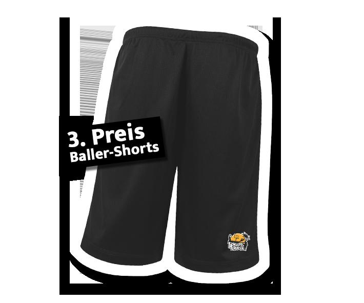 3. Preis: Basketball-Shorts mit Logodruck